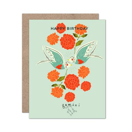 Zodiac Birthday Card / Gemini