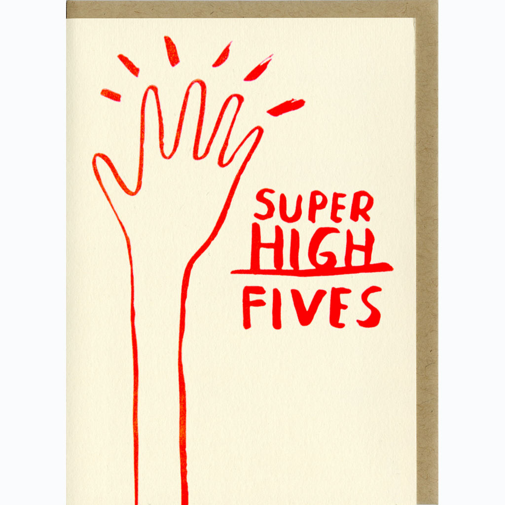 Super High Fives Card