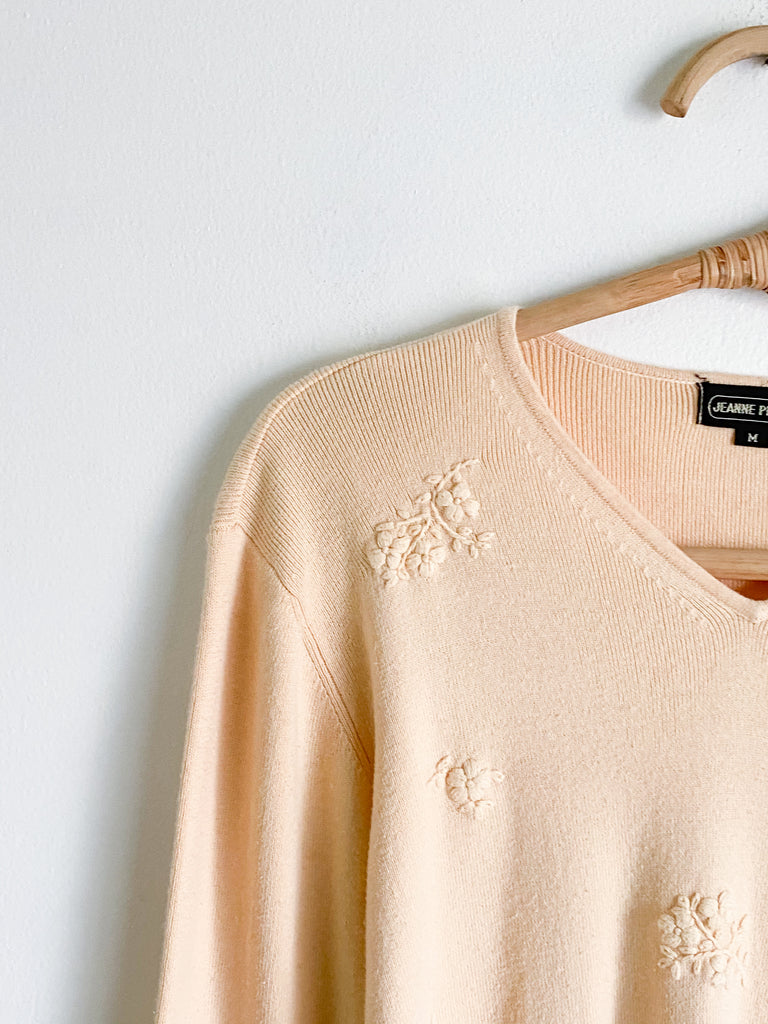 JP Pale Butter Cotton Fitted Sweater