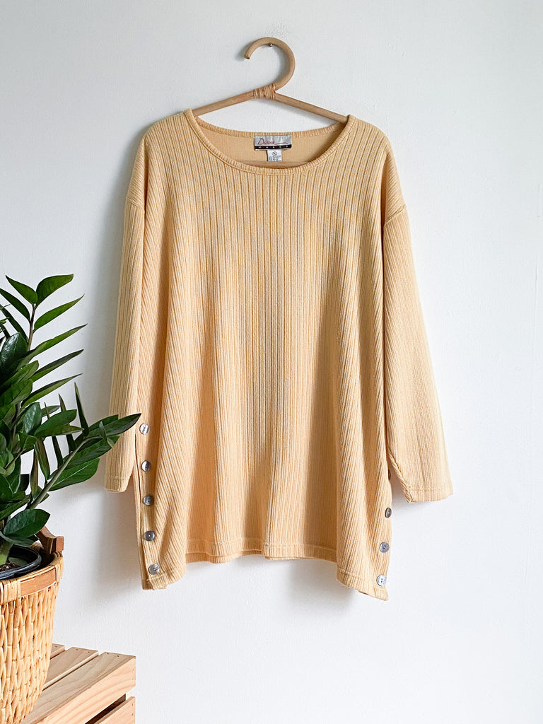 DM Goldenrod Ribbed Popover