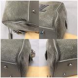 Limited Edition 2013 Grey Suede Illusion Speedy Cube Pm Satchel