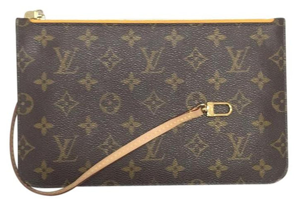 Neverfull Mm Or Gm Monogram Mimosa Wristlet. Used. Clutch