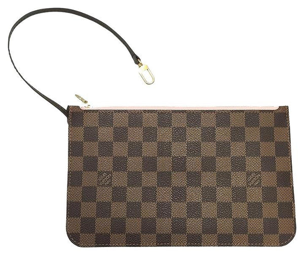 Neverfull Mm Or Gm Damier Ebene Rose Ballerine Clutch