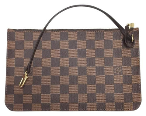 Neverfull Mm Or Gm Damier Ebene Wristlet. Clutch
