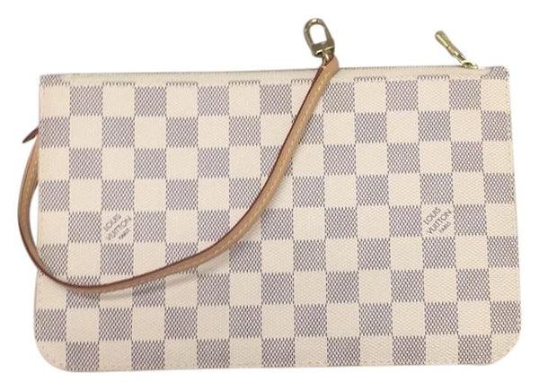 Neverfull Mm Or Gm Damier Azur Clutch