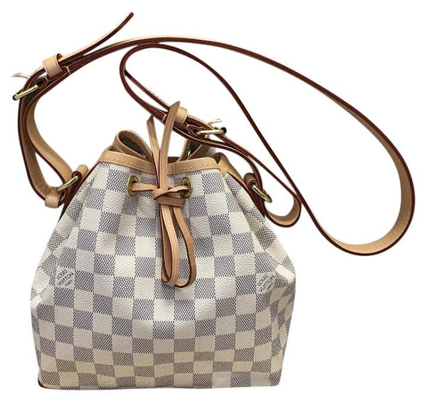 Noe Bb Damier Azur. Comes With Dustbag And Box. Cross Body Bag