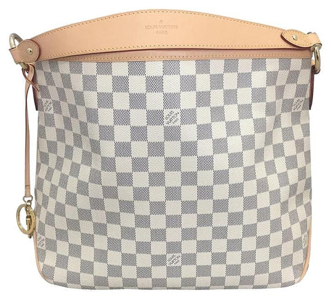 Delightful Pm Damier Azur Rose Ballerine. Hobo Bag
