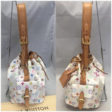 Petit White Multicolore Noe With Dustbag Hobo Bag