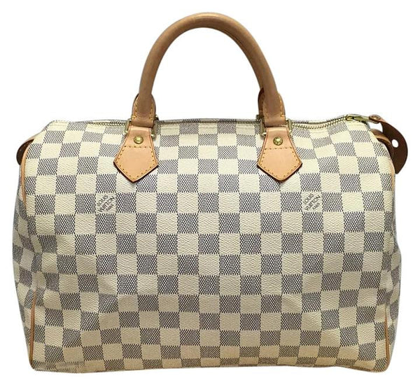Speedy 30 Damier Azur. Comes With Dustbag, Lock And Keys Satchel