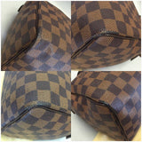 Speedy 25 Damier Ebene. Comes With Dustbag, Lock And Keys Satchel