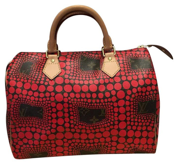 Speedy 30 Limited Edition Yayoi Kusama Waves Red. Satchel