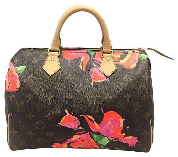 Limited Edition Stephen Sprouse Speedy 30 Roses Satchel