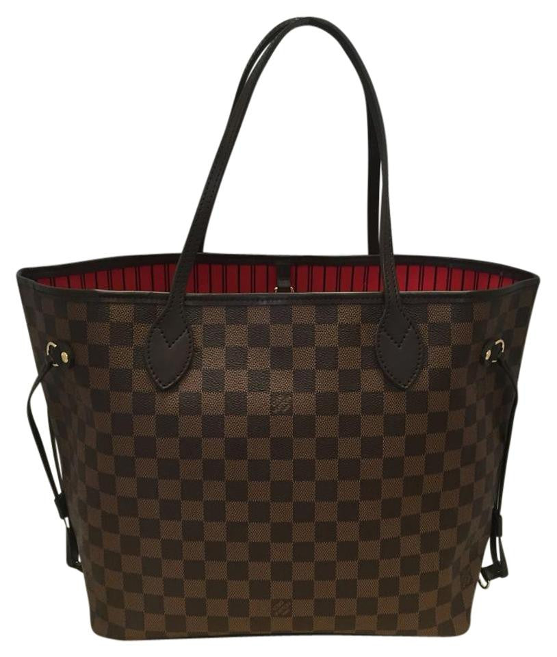 5c9bcf582c62 Neverfull Mm Damier Ebene With Dustbag- Date Code Ar2125 Tote Bag ...