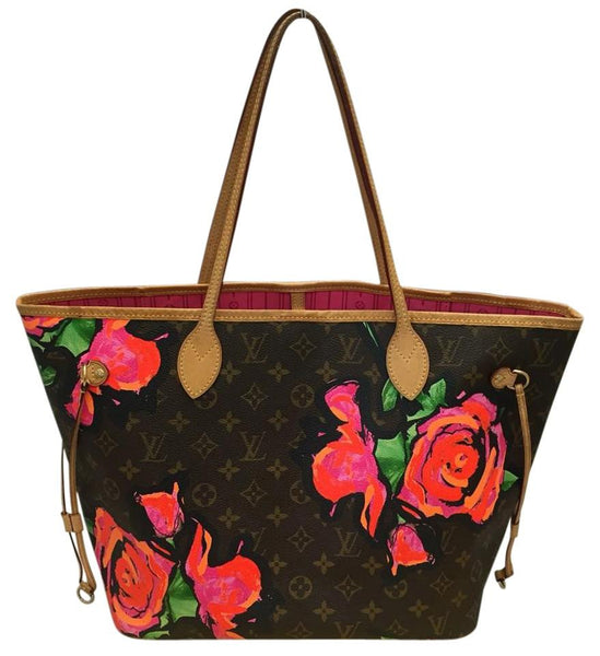 Neverfull Mm Limited Edition Roses With Dustbag Tote Bag