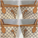 Neverfull Mm Damier Azur With Dustbag And Tags - Date Code Sa3192 Tote Bag