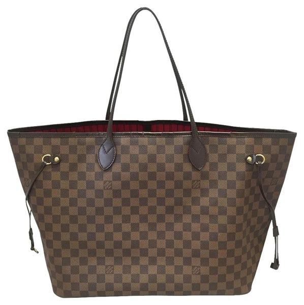 Neverfull Gm Damier Ebene With Dustbag Tote Bag