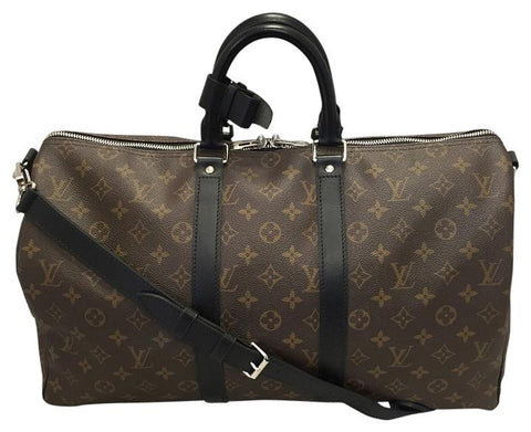 Keepall 45 Bandouliere Monogram Macassar Canvas. Travel Bag