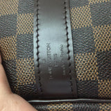 Keepall 55 Bandouliere Damier Ebene. Comes With Dustbag, Luggage Tag, Strap And Lock! Travel Bag