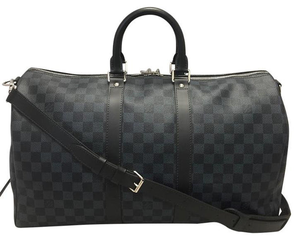 Keepall 45 Bandouliere Damier Cobalt. Travel Bag