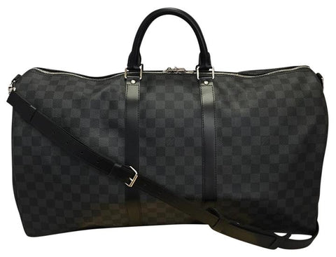 Keepall 55 Bandouliere Damier Graphite Luggage. Travel Bag