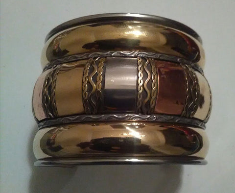 Gold/Brass/Copper Link Cuff