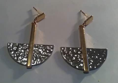 Leslie Gold and Silver Earrings