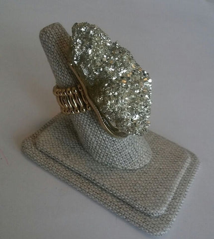 Gold & Rock Stone Ring