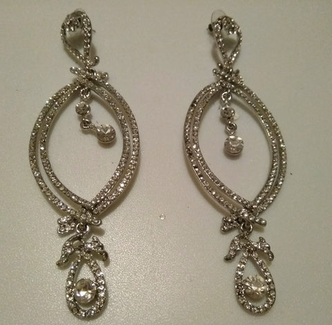Diana Crystal Drop Earrings