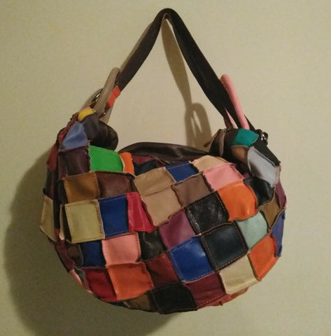 Tango Multi Color Patch Leather Tote