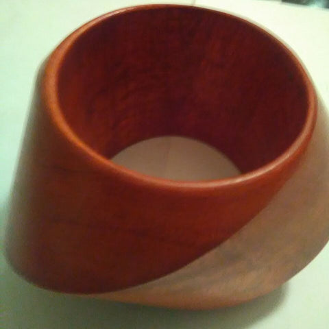 Burnt Orange Wood Bangle