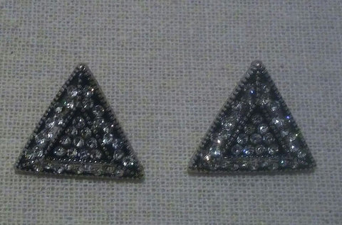 Triangle Crystal Stud Earrings