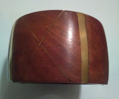 Luggage & Gold Wood Bangle