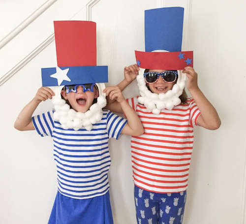 DIY Uncle Sam Paper Plate Masks - 4th of July Party Ideas