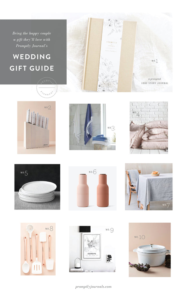 10 best gifts to bring to a summer wedding - promptly journals gift guide