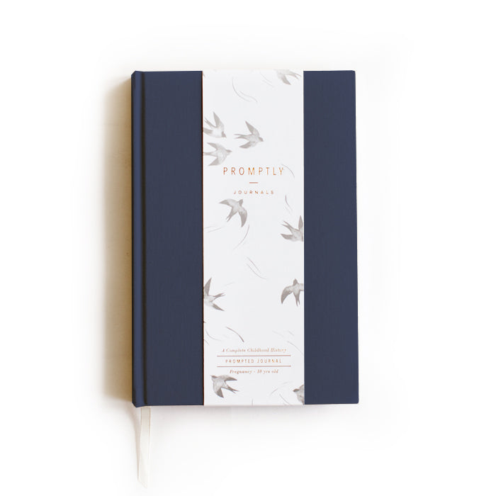 Promptly Journals Childhood History Journal in Navy