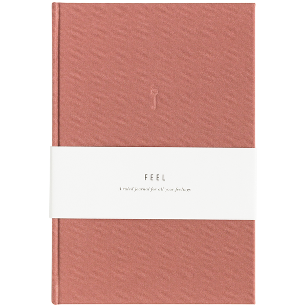 Blank Journal - Feel Dusty Rose Linen
