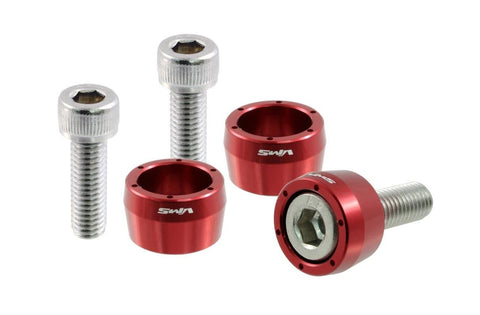 9 PC NEO CHROME 8MM BILLET ALUMINUM CUP WASHER KIT FOR HONDA HEADER BOLTS 8 MM
