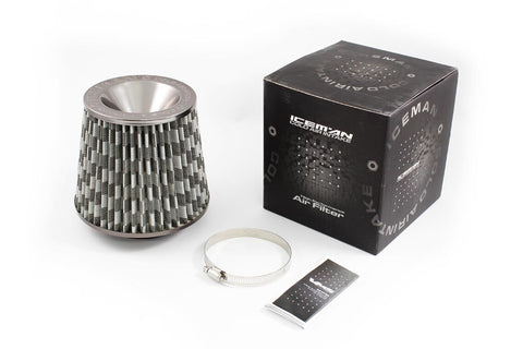 """VMS RACING RED HIGH FLOW 3/"""" COLD AIR RAM INTAKE CONE FILTER FOR NISSAN INFINITI"""