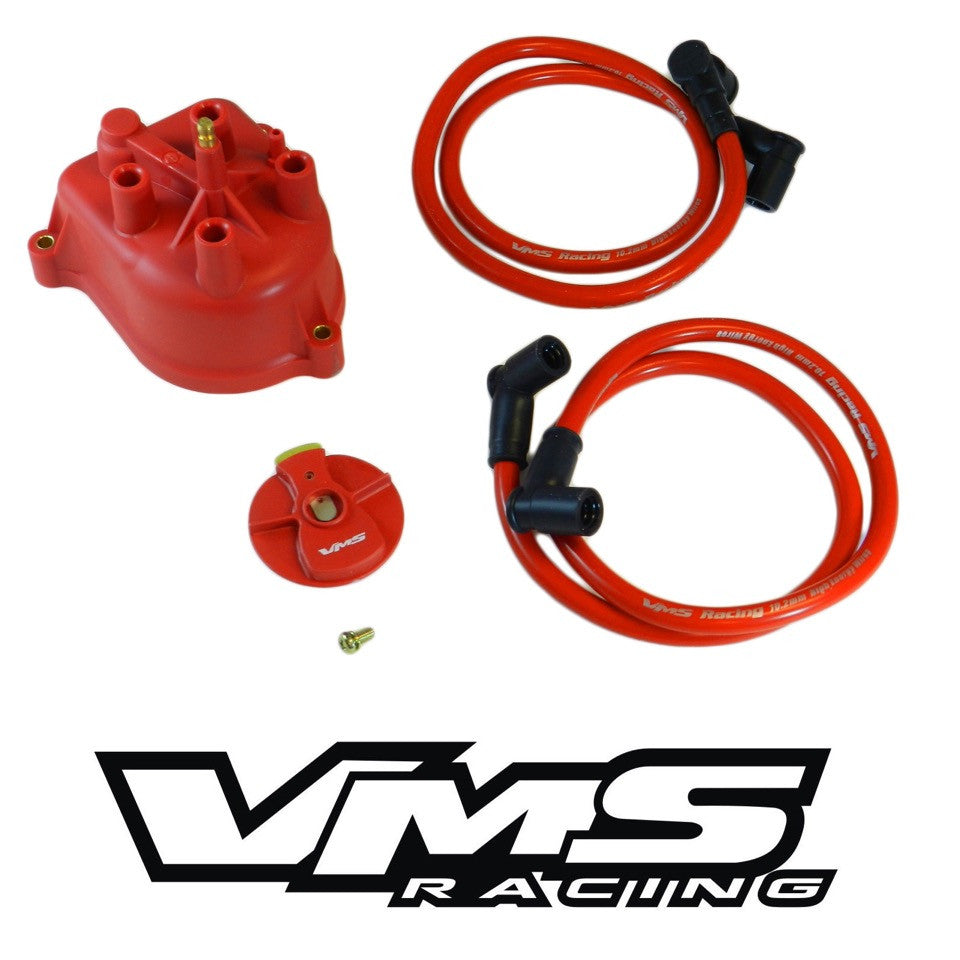 Distributor Cap Modified For External Coil 90 93 Honda Accord Red 1990 Antenna Wiring Harness Brass Terminals