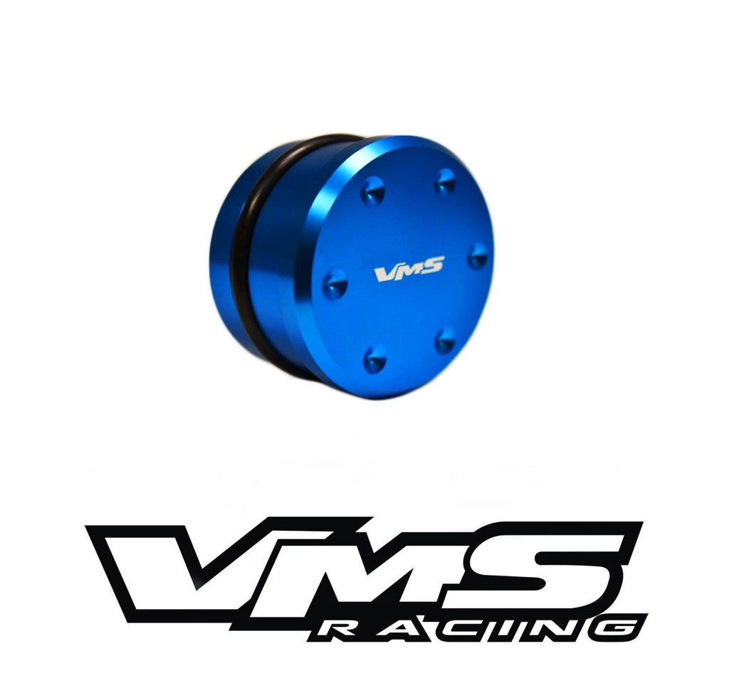 VMS RACING 2001-2010 FOR GM 6.6L DURAMAX COOLANT THERMOSTAT DELETE PLUG SILVER