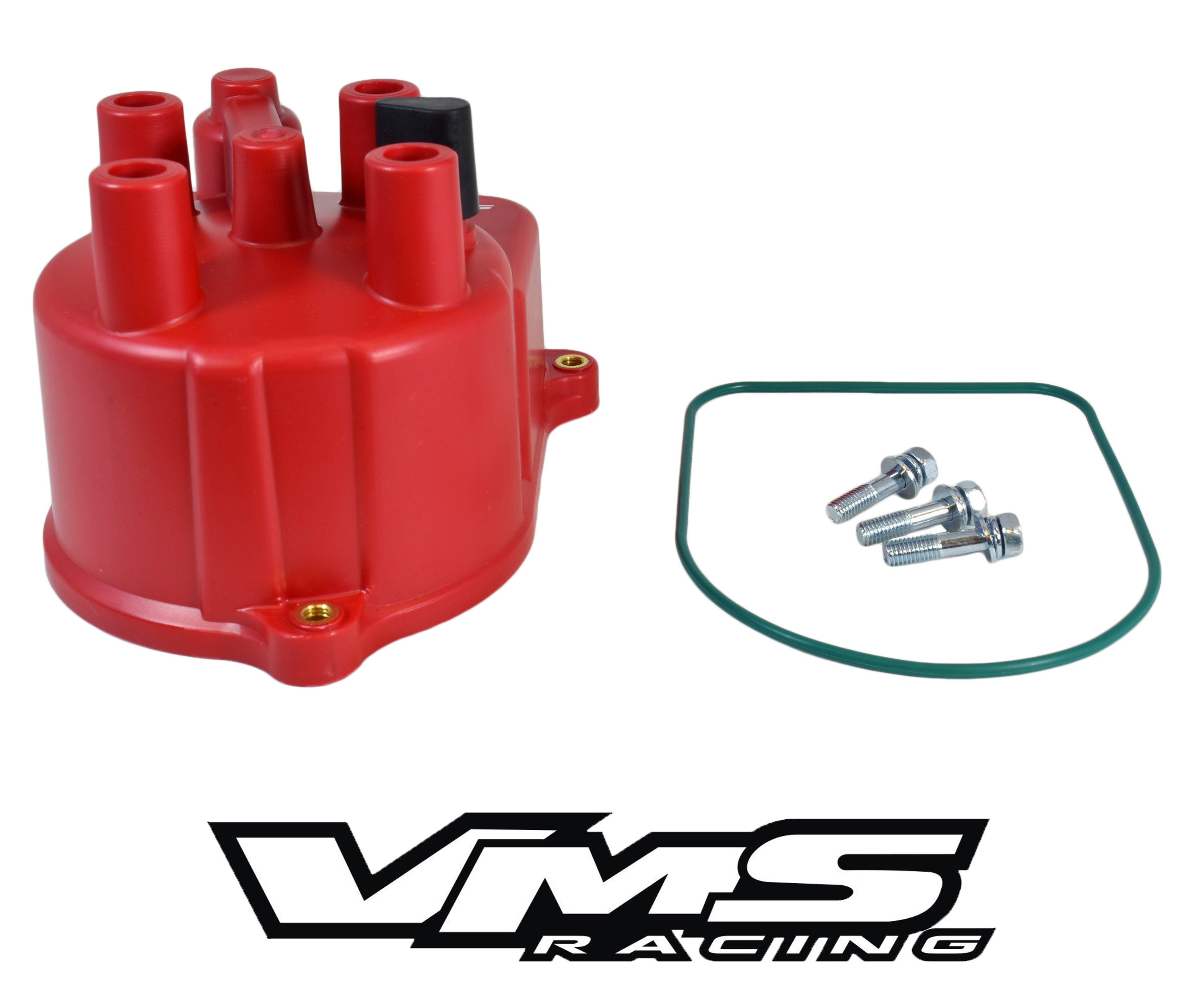 VMS RACING VALVE COVER SPARK PLUG WIRE INSERT RED 94-01 ACURA INTEGRA B18C VTEC