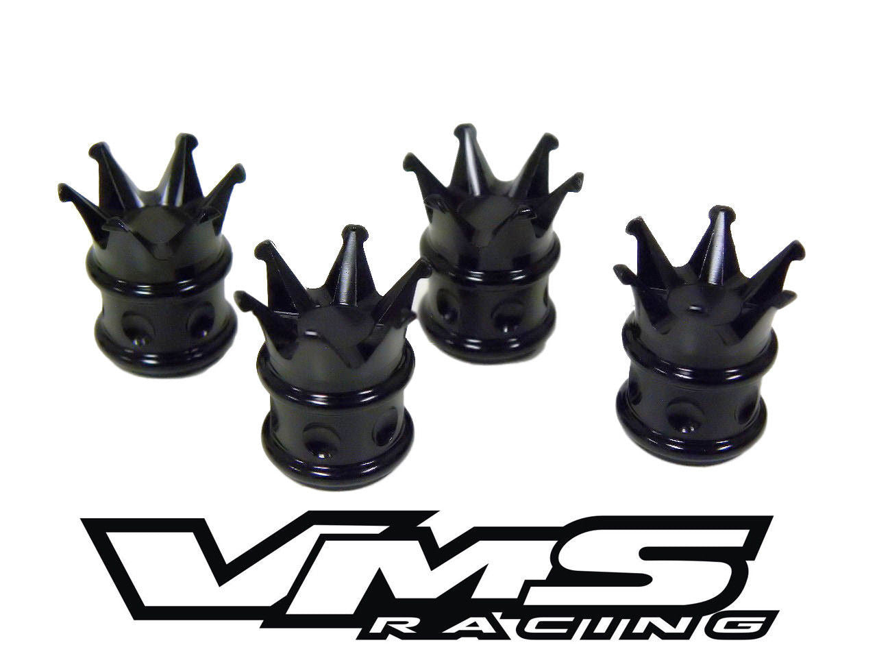 CROWN KING BILLET ALUMINUM AIR VALVE STEM CAP KIT AVAILABLE IN BLACK on fuse caps, bmw valve caps, saleen center caps, nut caps, grease caps, presta valve caps, cylinder caps, radiator caps,