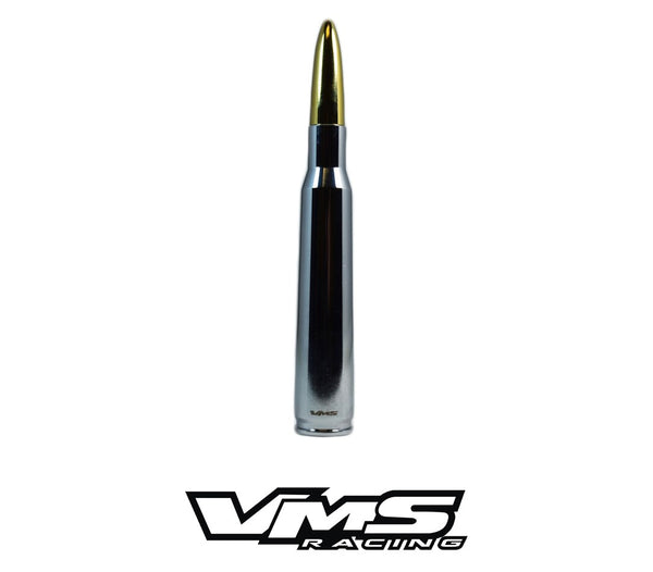 2 PIECE CHROME PLATED CASING 50 CALIBER CAL BULLET STYLE