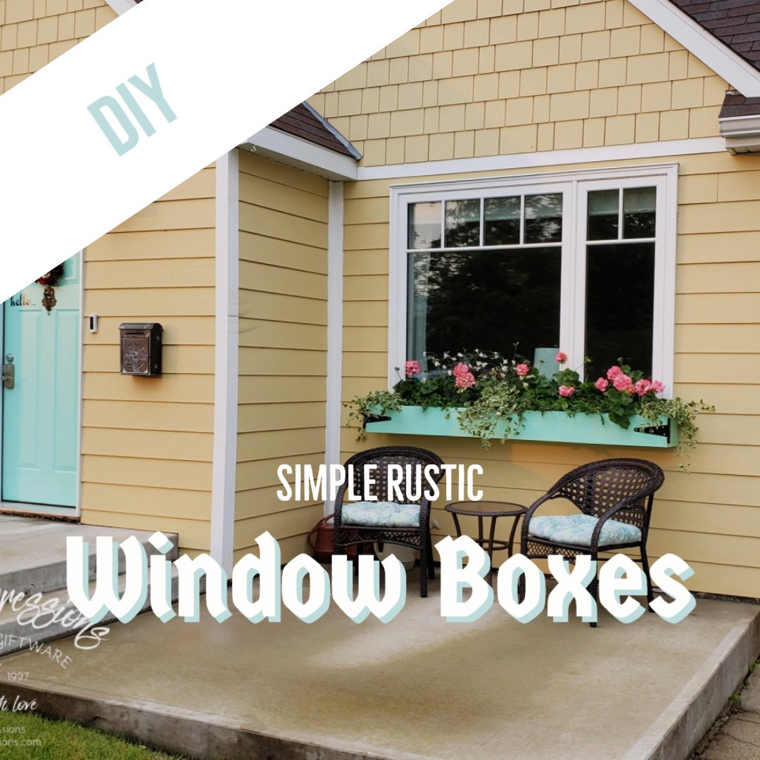 DIY Simple Rustic Window Boxes - Netties Expressions