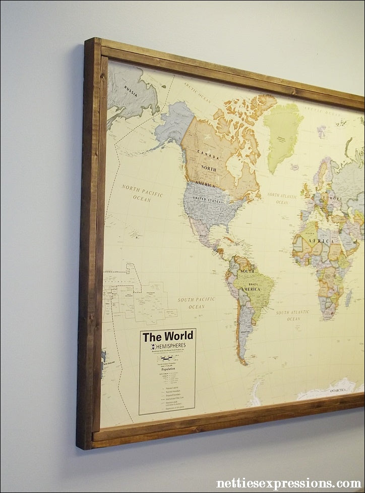Large framed world map timekeeperwatches updated gumiabroncs Image collections