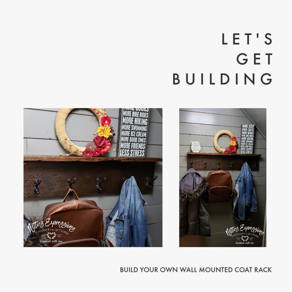 Build Your Own Wall Mounted Coat Rack | Netties Expressions