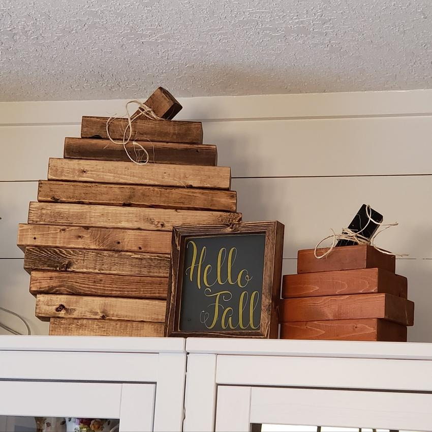 Hello Fall - Rustic Wood Sign - Netties Expressions