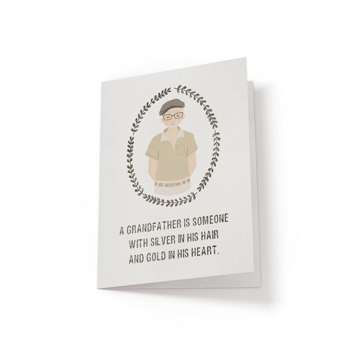 A Grandfather is someone with - Greeting Card - Netties Expressions