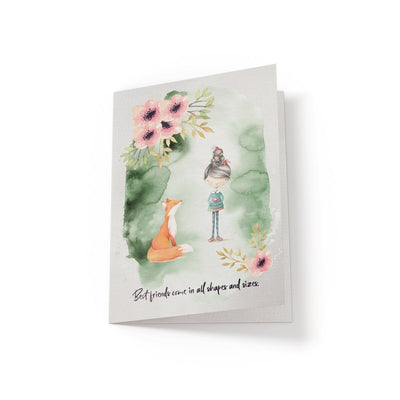 Best friends come in all shapes and sizes - Greeting Card - Netties Expressions