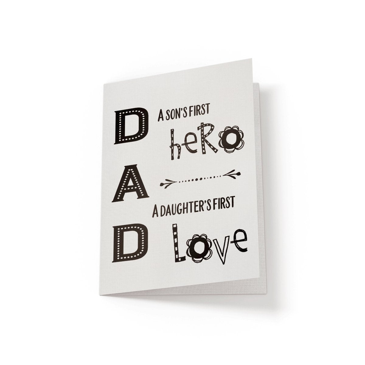 Dad, a son's first hero - Greeting Card - Netties Expressions
